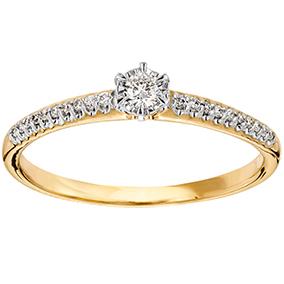 Kultainen timanttisormus 0,14ct