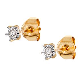 Kultaiset timanttikorvakorut 0,10ct