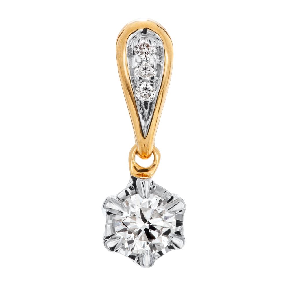 Kultainen timanttiriipus 0,07ct, Vuoden Joululahja 2019