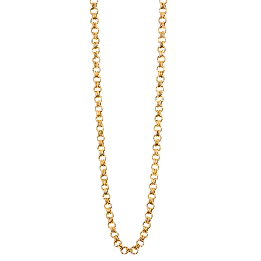 Kultainen kaulakoru, tuplalenkit 45 cm