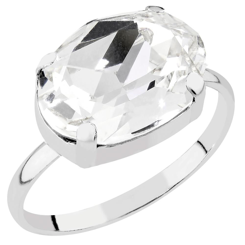 Mood hopeinen sormus, kristalli