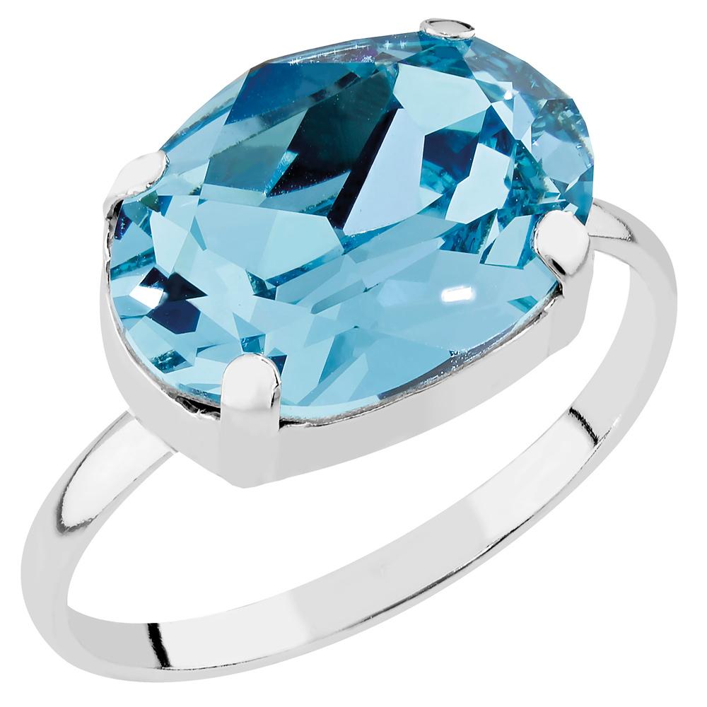 Mood hopeinen sormus, turkoosi kristalli