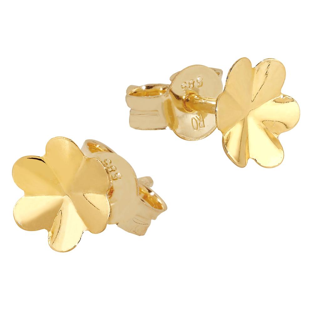 Kultaiset kukkakorvakorut 6 mm