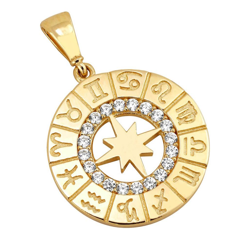 Kultainen riipus, horoskoopit, zirkonia