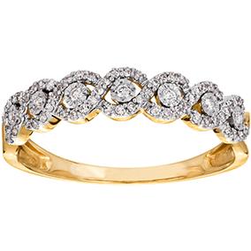 Kultainen timanttisormus 0,20ct, letti