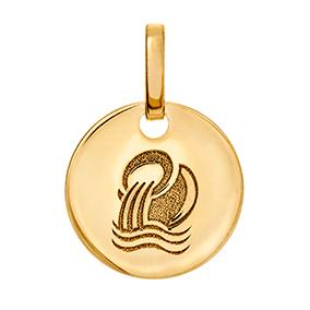 Kultainen horoskooppiriipus 10 mm, Vesimies