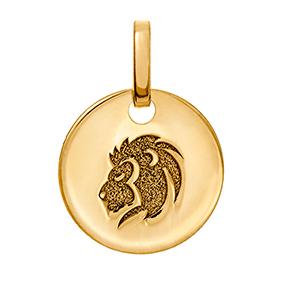 Kultainen horoskooppiriipus 10 mm, Leijona