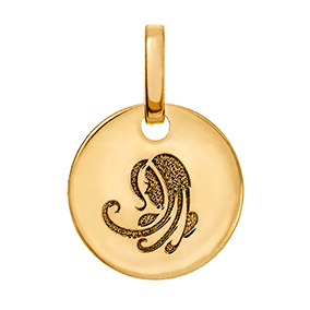 Kultainen horoskooppiriipus 10 mm, Neitsyt