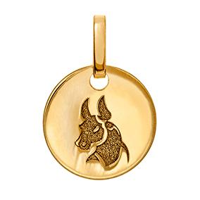 Kultainen horoskooppiriipus 10 mm, Härkä