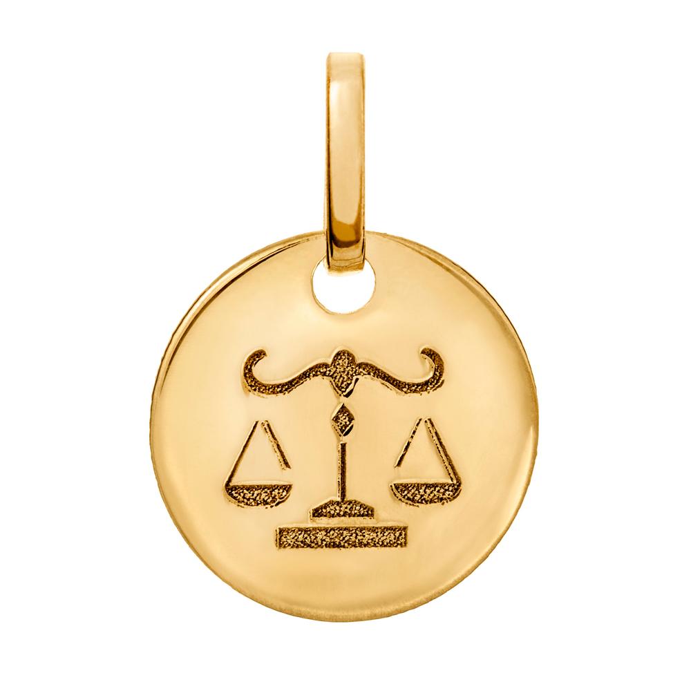 Kultainen horoskooppiriipus 10 mm, Vaaka