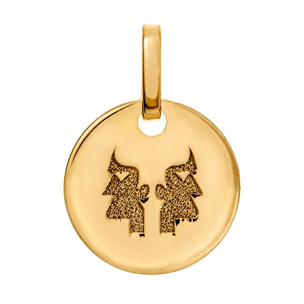 Kultainen horoskooppiriipus 10 mm, Kaksonen