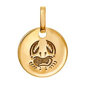 Kultainen horoskooppiriipus 10 mm, Rapu