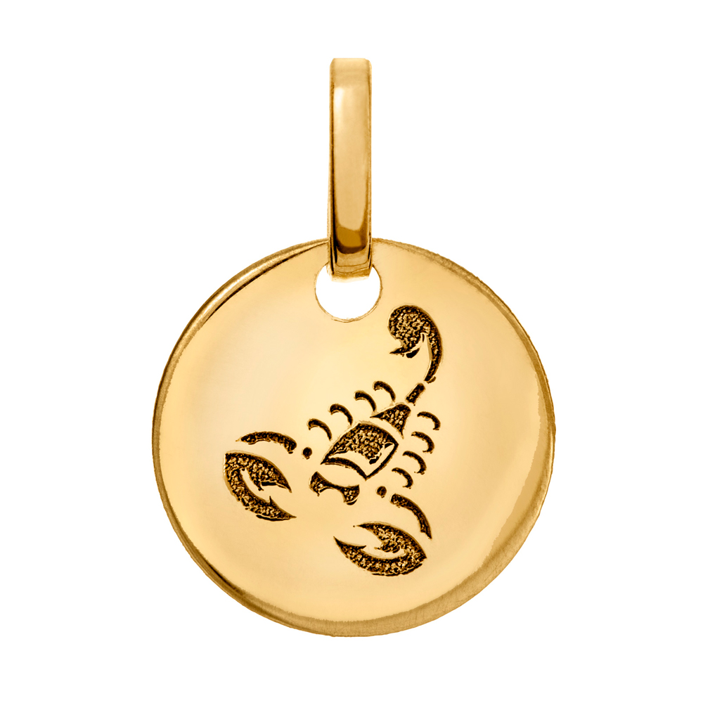 Kultainen horoskooppiriipus 10 mm, Skorpioni