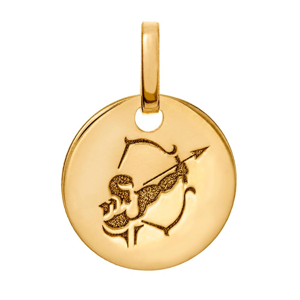 Kultainen horoskooppiriipus 10 mm, Jousimies