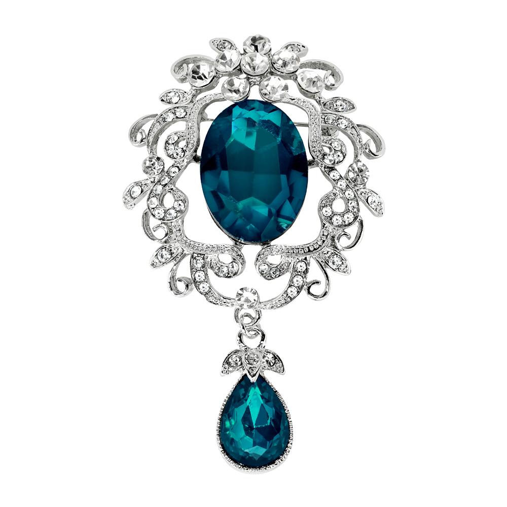 Rintaneula, isot siniset kivet
