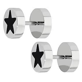 Steel4U teräskorvakorut, tähti 8 mm