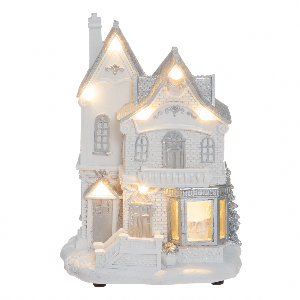 Valkoinen joulutalo, ledvalo