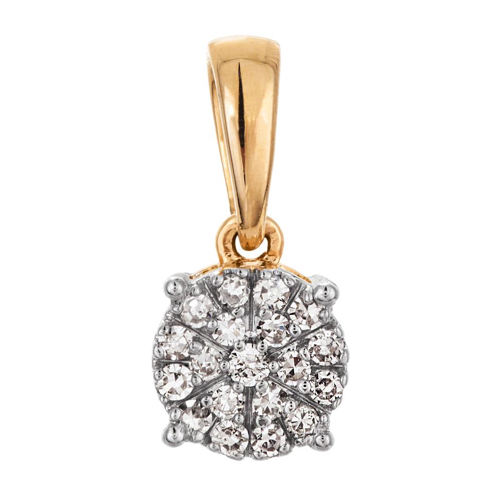 Kultainen timanttiriipus 0,07ct, kukka