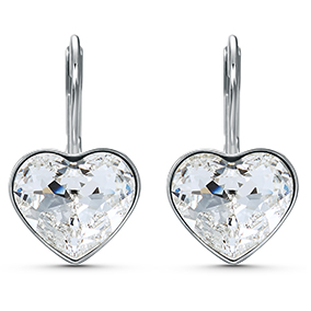 Swarovski Bella Heart korvakorut, hopea 5515191