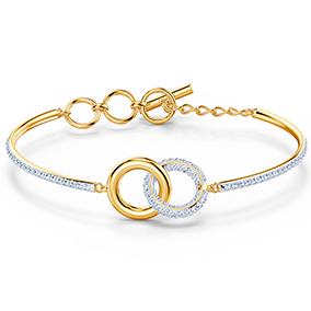 Swarovski Stone Bangle rannerengas, kulta 5523950