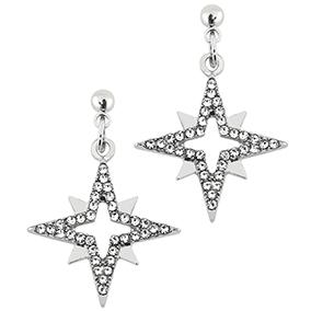 Roikkuvat korvakorut, tähdet ja kristallit
