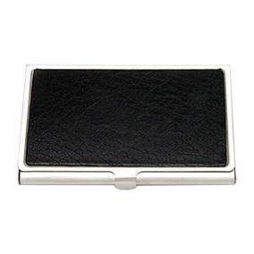 Käyntikorttikotelo, musta keinonahka