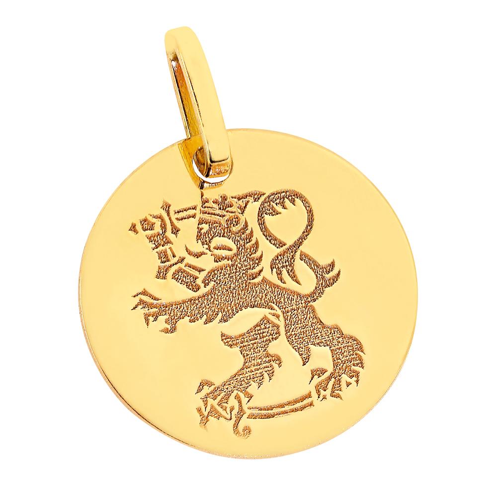 Kultainen riipus, Suomileijona 12 mm