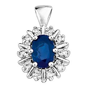 Valkokultainen timantti-safiiririipus 0,05ct