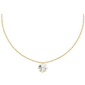 Kultainen kaulaketju, zirkoniariipus 10 mm