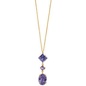 Mood kullattu hopeinen riipus, siniset kristallit