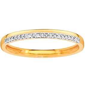 Kultainen timanttisormus 0,05ct