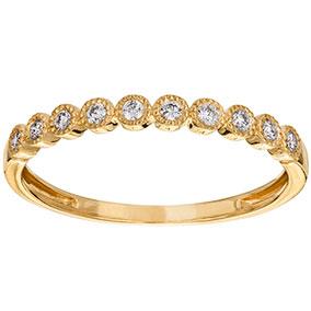 Kultainen timanttisormus 0,13ct
