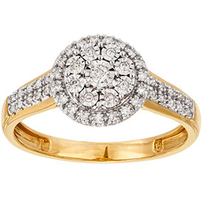 Kultainen timanttisormus 0,16ct