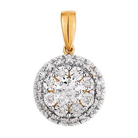 Kultainen timanttiriipus 0,10ct