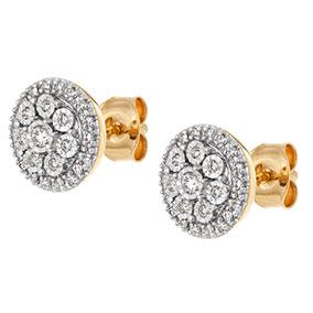 Kultaiset timanttikorvakorut 0,18ct