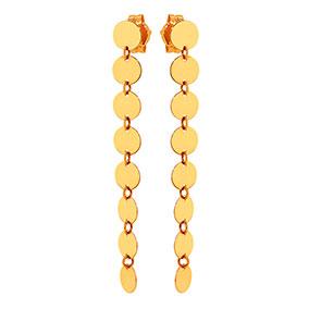 Kultaiset roikkuvat korvakorut, kolikot