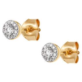 Kultaiset timanttikorvakorut 0,20ct