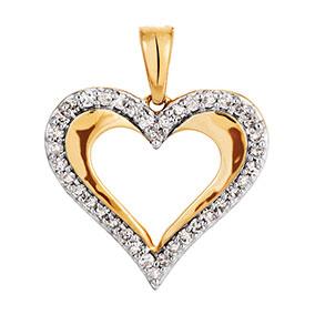 Kultainen timanttiriipus 0,11ct