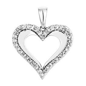 Valkokultainen timanttiriipus 0,11ct