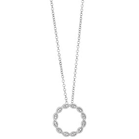 Valkokultainen timanttiriipus 0,06ct