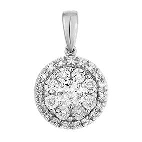 Valkokultainen timanttiriipus 0,10ct