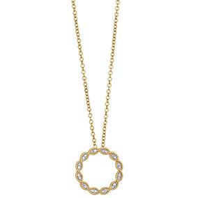 Kultainen timanttiriipus 0,06ct