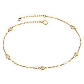 Kultainen timanttirannekoru 0,20ct