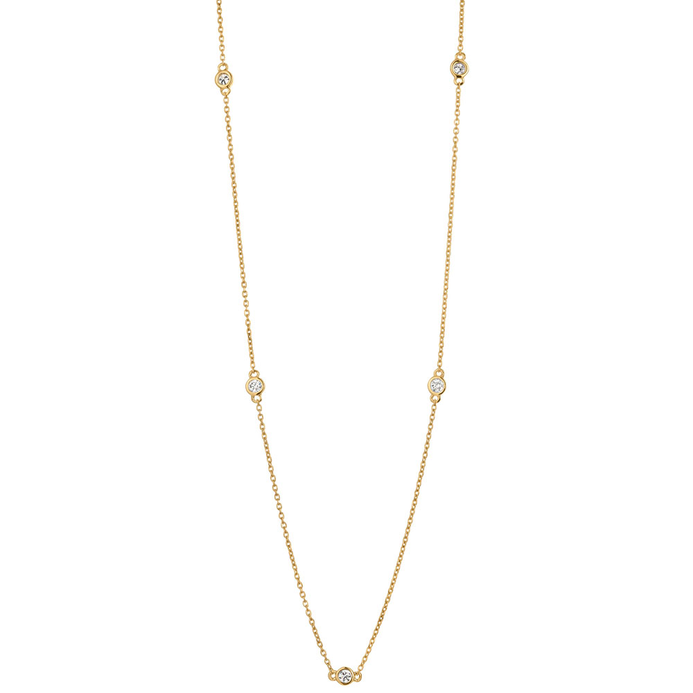 Kultainen timanttikaulakoru 0,20ct