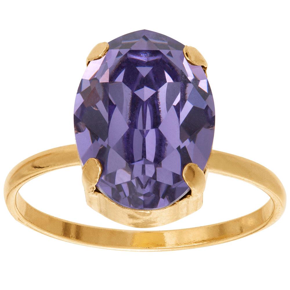 Mood kullattu hopeinen sormus ovaali, sininen kristalli