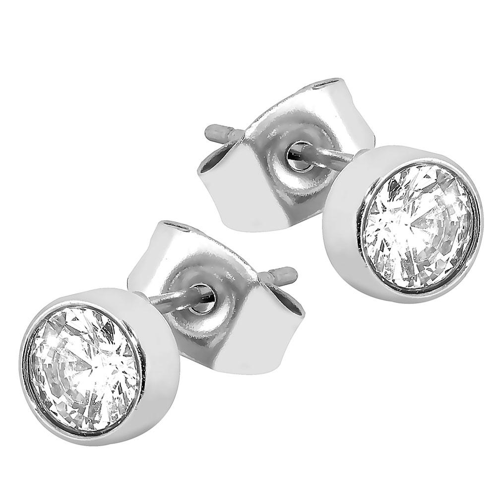 Steel4U teräskorvakorut, kristalli