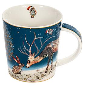Joulumuki sininen, peura ja pupu