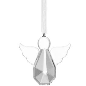 Lasinen ripustettava enkeli 9 cm