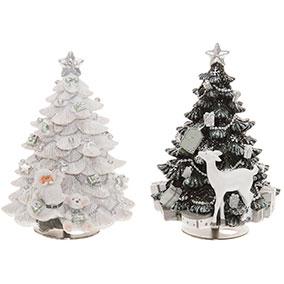 Soittorasia joulukuusi 15cm kaksi erilaista