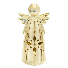 Kullanvärinen koriste-enkeli led-valolla